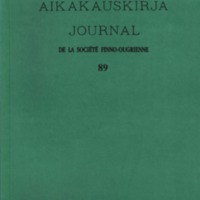 Journal de la Société Finno-Ougrienne 89