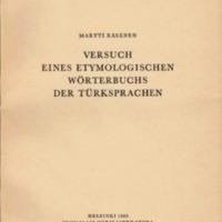 Versuch eines etymologischen Wörterbuchs der Türksprachen