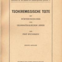 Tscheremissische Texte mit Wörterverzeichnis und grammatikalischem Abriss