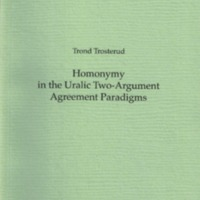 Homonymy in the Uralic Two-Argument Agreement Paradigms (MSFOu 251)
