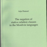 The negation of stative relation clauses in the Mordvin languages (MSFOu 254)