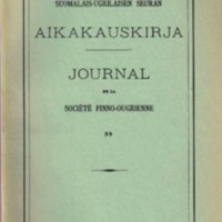 Journal de la Société Finno-Ougrienne 59