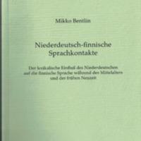 Niederdeutsch-finnische Sprachkontakte (MSFOu 256)