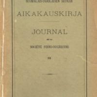 Journal de la Société Finno-Ougrienne 58