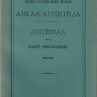Journal de la Société Finno-Ougrienne 46