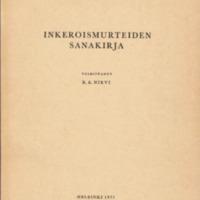 Inkeroismurteiden sanakirja