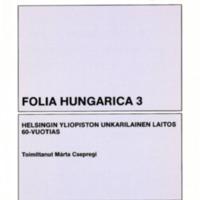 Folia Hungarica 3 – Helsingin yliopiston unkarilainen laitos 60-vuotias
