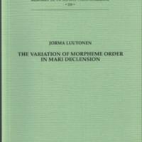 The variation of morpheme order in Mari declension (MSFOu 226)