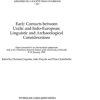 Early Contacts between Uralic and Indo-European: Linguistic
