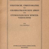 Syrjänische Chrestomathie mit grammatikalischem Abriss und etymologischem Wörterverzeichnis