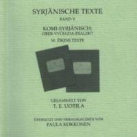 Syrjänische Texte. Band V. Komi-Syrjänisch: Ober-Vyčegda-Dialekt. M. Žikins Texte (MSFOu 252)