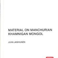Material on Manchurian Khamnigan Mongol