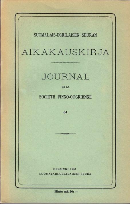 Suomalais Ugrilainen Kieli