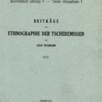 Beiträge zur Ethnographie der Tscheremissen