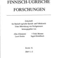 Finnisch-Ugrische Forschungen 51