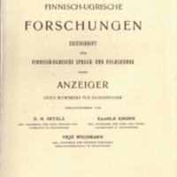 Finnisch-Ugrische Forschungen 17