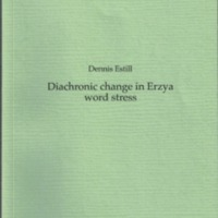 Diachronic change in Erzya word stress (SUST 246)