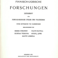 Finnisch-Ugrische Forschungen 38