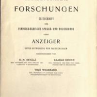 Finnisch-Ugrische Forschungen 19