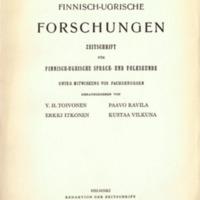 Finnisch-Ugrische Forschungen 31