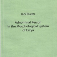 Adnominal Person in the Morphological System of Erzya (SUST 261)