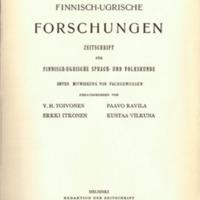 Finnisch-Ugrische Forschungen 32