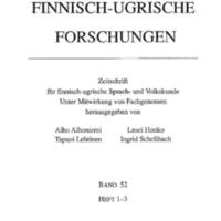 Finnisch-Ugrische Forschungen 52