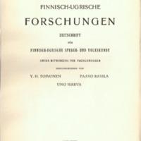 Finnisch-Ugrische Forschungen 30