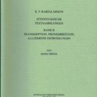 K. F. Karjalainens südostjakische Textsammlungen. Band II (SUST 225)