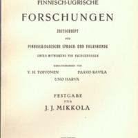 Finnisch-Ugrische Forschungen 29
