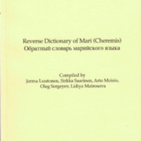 Reverse Dictionary of Mari (Cheremis)