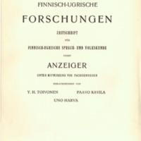 Finnisch-Ugrische Forschungen 26