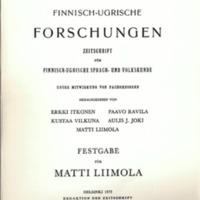 Finnisch-Ugrische Forschungen 40