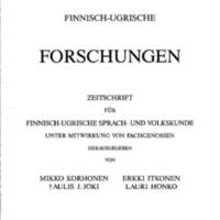Finnisch-Ugrische Forschungen 49