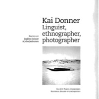 Kai Donner. Linguist, ethnographer, photographer