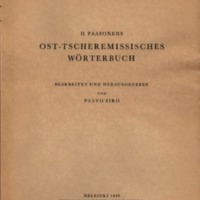 H. Paasonens Ost-tscheremissisches Wörterbuch
