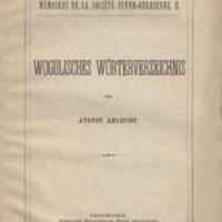 Wogulisches Wörterverzeichnis