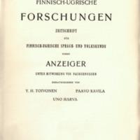 Finnisch-Ugrische Forschungen 23