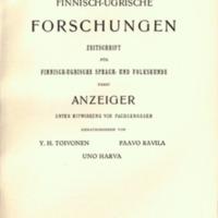 Finnisch-Ugrische Forschungen 27