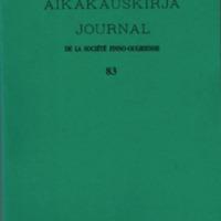 Suomalais-Ugrilaisen Seuran Aikakauskirja 83