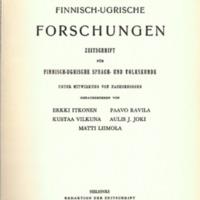 Finnisch-Ugrische Forschungen 35
