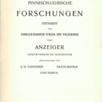 Finnisch-Ugrische Forschungen 25