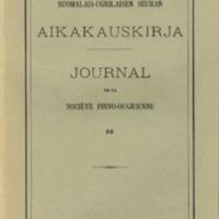 Suomalais-Ugrilaisen Seuran Aikakauskirja 55