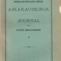 Suomalais-Ugrilaisen Seuran Aikakauskirja 50