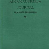 Suomalais-Ugrilaisen Seuran Aikakauskirja 89
