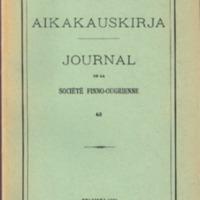 Suomalais-Ugrilaisen Seuran Aikakauskirja 63