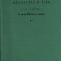 Suomalais-Ugrilaisen Seuran Aikakauskirja 87