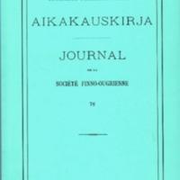 Suomalais-Ugrilaisen Seuran Aikakauskirja 76