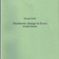 Diachronic change in Erzya word stress (SUST 246)