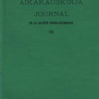 Suomalais-Ugrilaisen Seuran Aikakauskirja 90